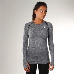 Gymshark Long-Sleeve Grey Top
